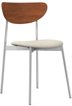 west elm Mid-Century Modern Petal Dining Chair - Leather
