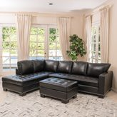 Christopher Knight Home Lincoln Left Facing 3-piece Leather Sectional Sofa Set