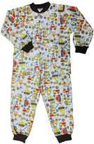 Snoozers Tractor Trucks Print Cotton Flannel Pajama Set (9/10)