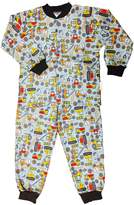 Snoozers Tractor Trucks Print Cotton Flannel Pajama Set (LG)