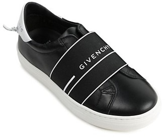 Givenchy Boy's Urban Street Logo Strap Leather Sneakers