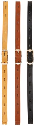 Linea Pelle 3-for-1 Perforated Belt Set