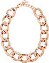 Lydell NYC Statement Chain-Link Necklace, Rose Golden
