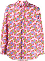 Comme des Garcons abstract printed pocket shirt