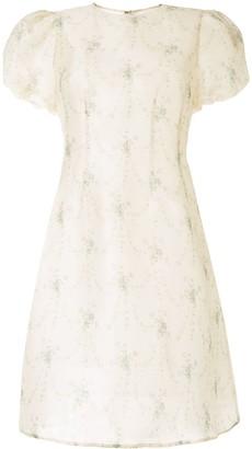 Brock Collection Organza Floral Dress