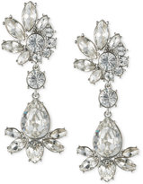 Givenchy Silver-Tone Crystal Cluster Drop Earrings