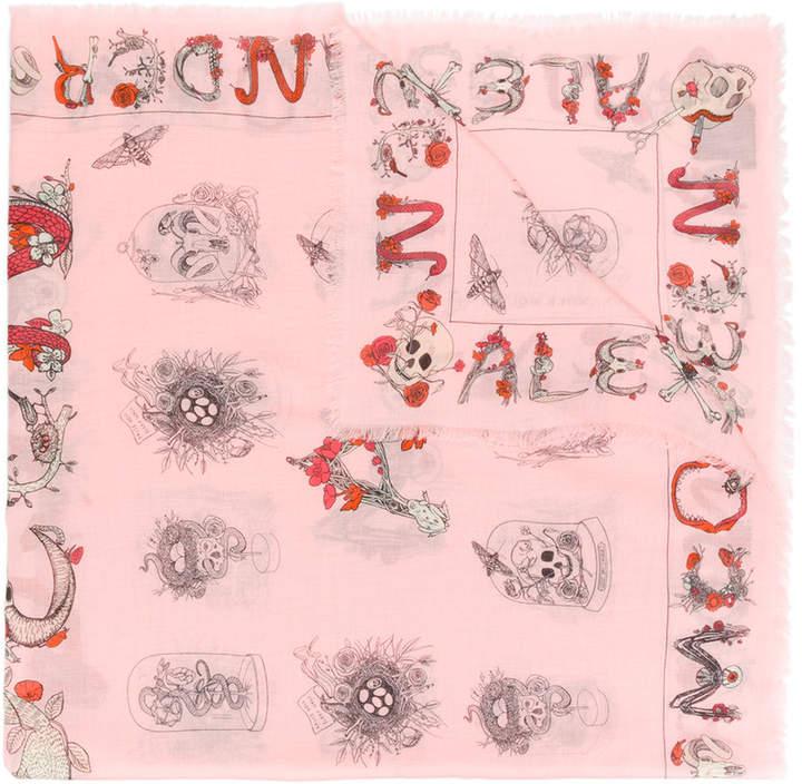 Alexander McQueen text cabinet scarf
