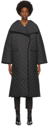 Totême Black Quilted Annecy Coat