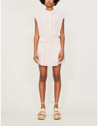 Rails Angelina striped linen and rayon-blend mini dress