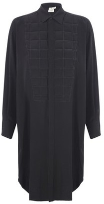 Bottega Veneta Silk Padded Plastron shirt dress
