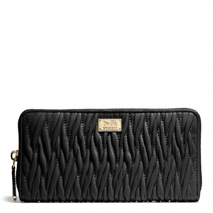 Coach Madison Accordion Zip Wallet In Gathered Twist Leather