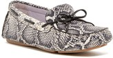 Johnston & Murphy Maggie Camp Snake-Embossed Moccasin