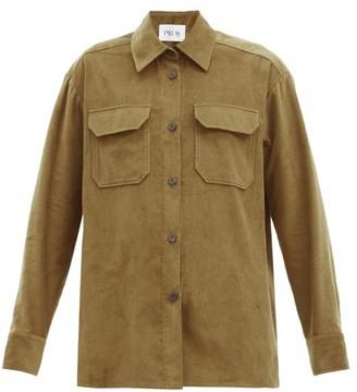 Pallas Paris Hashtag Cotton-needlecord Overshirt - Khaki