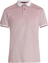 Ermenegildo Zegna Contrast-collar cotton-piqué polo shirt
