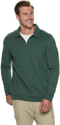 Croft & Barrow Big & Tall Quarter-Zip Pullover