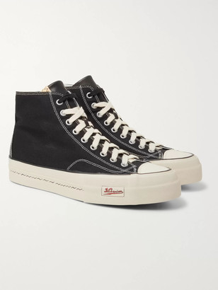 Visvim Skagway Leather-Trimmed Canvas High-Top Sneakers