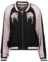 Joie Juanita Embroidered Satin Bomber Jacket