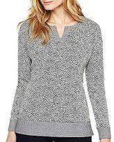 Liz Claiborne Jacquard Drop-Shoulder Tunic
