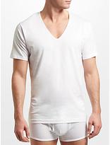 Sunspel Superfine Low V-Neck Underwear T-Shirt, White