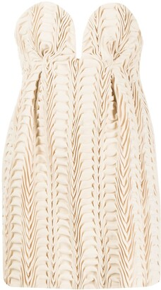 Marco De Vincenzo Strapless Textured Top