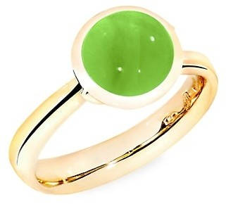 Tamara Comolli Small Bouton 18K Yellow Gold & Peridot Ring