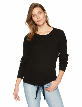 Tribal Women's L/S Knotted Front Sweater