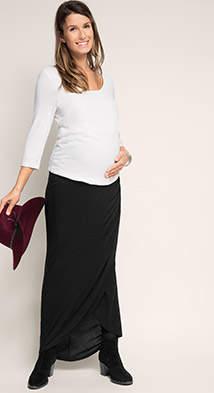 Esprit jersey maxi skirt w over-bump waistband