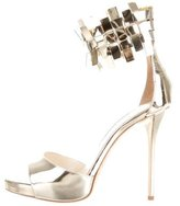 Oscar de la Renta Elin Metallic Platform Sandals w/ Tags