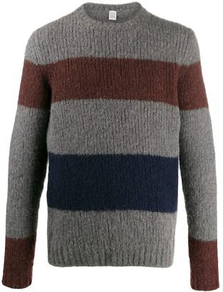Eleventy Striped Colour-Block Sweater