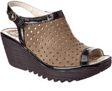 Fly London Yile Leather Wedge Sandal