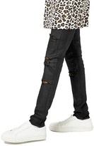 Topman Men's Aaa Collection Coated Ripped Stretch Skinny Fit Jeans