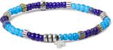 Peyote Bird Glass Bead Sterling Silver Bracelet