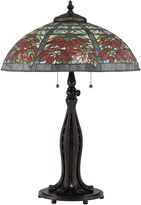 Quoizel Tiffany Red Maple Table Lamp in Bronze