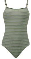 Solid & Striped The Nina Logo Swimsuit - Womens - Black Stripe