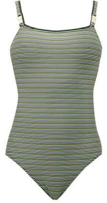 Solid & Striped The Nina Logo Swimsuit - Black Stripe
