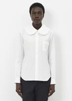 Comme des Garcons white peter pan collar buton-up shirt