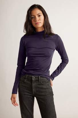 Velvet by Graham & Spencer Velvet By Graham Spencer Talisia Gauzy Whisper Fitted Mock Neck Tee