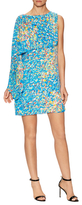 Tracy Reese Silk Print Cascade Shift Dress