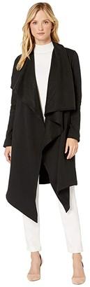 UGG Janni Fleece Blanket Cardi (Black) Women's Sweater