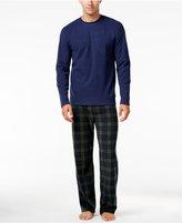 Club Room Men's Blackwatch Fleece Pajama Set, Only at Macy's