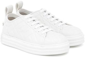 Fendi Promenade FF leather sneakers
