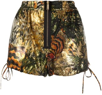 DSQUARED2 Tropical Print Lame Shorts