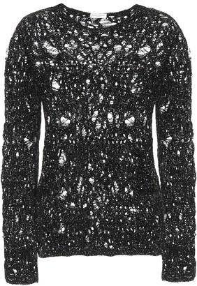 Saint Laurent Metallic crochet sweater