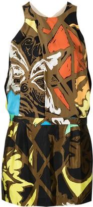 Balenciaga Pre-Owned Abstract Print Sleeveless Dress