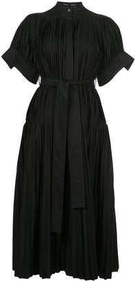 Proenza Schouler Pleated Belted Evening Dress