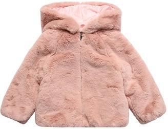 Il Gufo Hooded Faux Fur Jacket