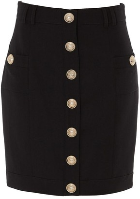 Balmain Short Single Breasted Button Skirt