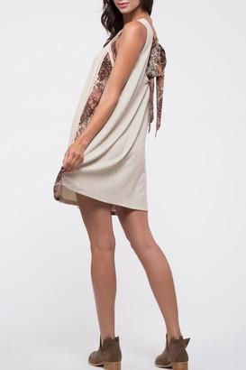 Blu Pepper Floral Tie Back Ribbed Tank Dress