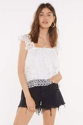 Nasty Gal Womens Hole Me Down Crochet Top - White - L, White