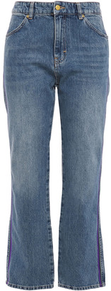 Victoria Victoria Beckham Cropped High-rise Straight-leg Jeans